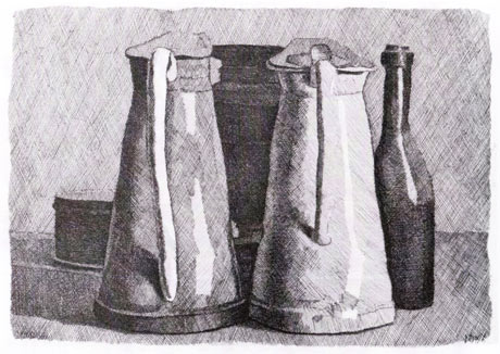morandi still life five objects