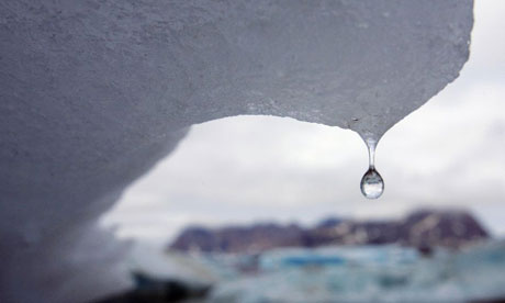 An iceberg melts in Greeland in 2007. Climate change. Environment. Global warming. Photograph: John McConnico/AP