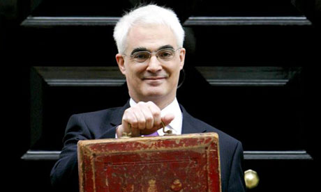 Alistair Darling leaves 11 Downing Street