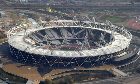 The Olympic Stadium in Stratford will be surrounded by a wrap, sponsored by Dow, during the Games