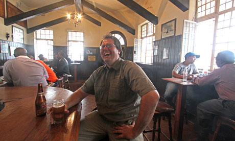 Paul Hubbard, guide of the Bulawayo pub crawl, in the King's Head