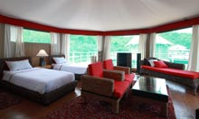The spacious tents at Four Rivers