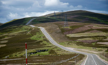 Road from Cockbridge to Tomintoul, Aberdeenshire, Scotland