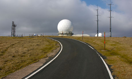 The RADAR station of top of Great Dun Fell, near Cross Fell, Cumbria