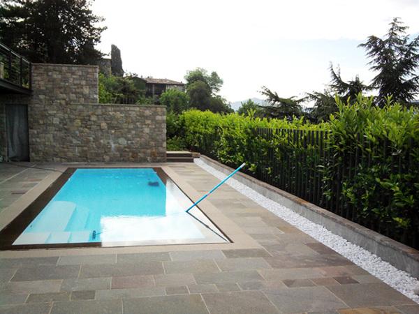 Foto Giardino con Piscina Trescore Balneario BG di Rizzi Giardini 93441  Habitissimo