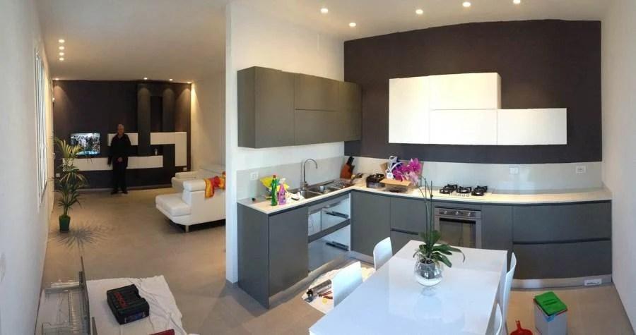 La suddivisione in zone può essere effettuata abbassando il livello del pavimento o del soffitto. Idee Cucina Soggiorno 25 Mq 2021 Fundomega1 Com