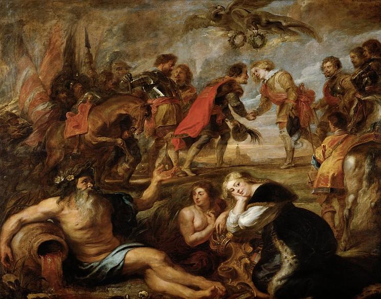 Pieter Paul Rubens, L'incontro del Re Ferdinando d'Ungheria e del Cardinale Infante Ferdinando di Spagna a Nördlingen, 1635, Getty Museum (Los Angeles, California)