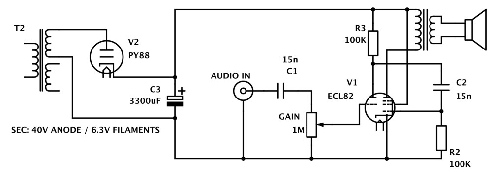 medium resolution of low voltage tube amp is great for beginners hackaday vacuum tube experiment diagram vacuum tube wiring diagram