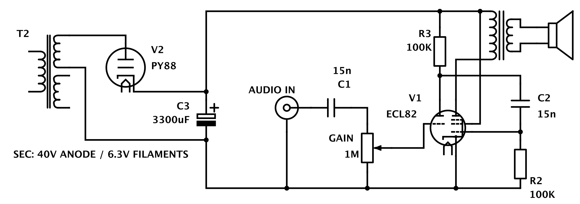 hight resolution of low voltage tube amp is great for beginners hackaday vacuum tube experiment diagram vacuum tube wiring diagram