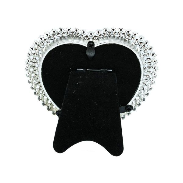 """Small Heart Shaped Silver Plated Frame 3"""" X 3"""