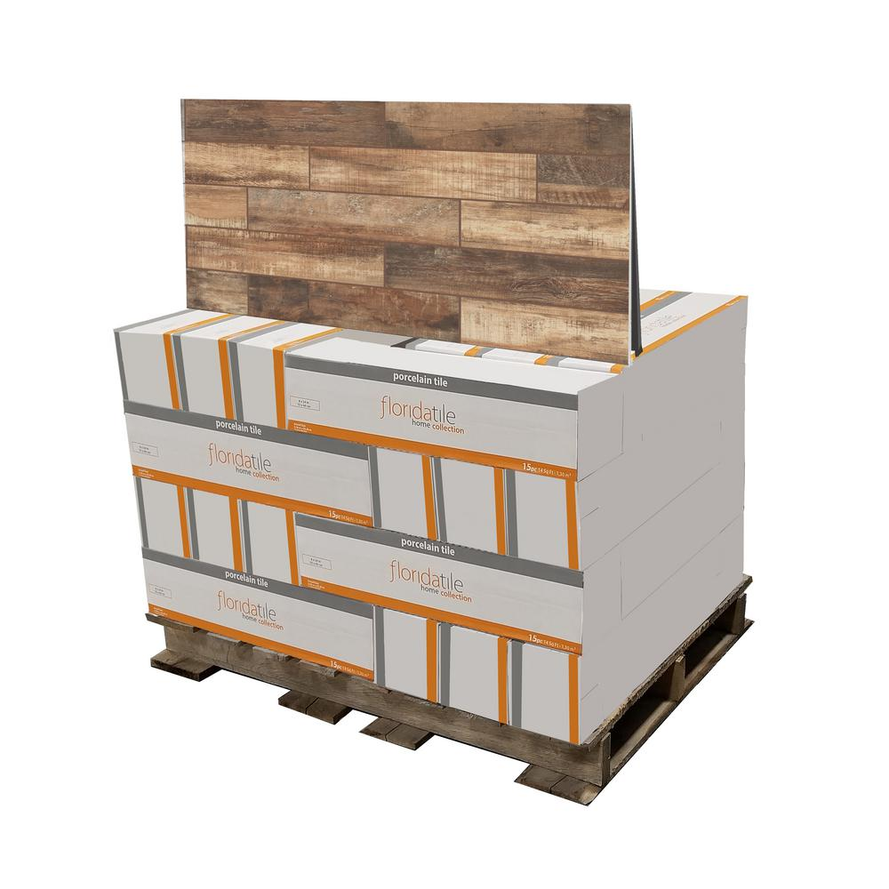 florida tile home collection wind river beige 6 in x 24 in porcelain floor and wall tile 448 sq ft pallet multi