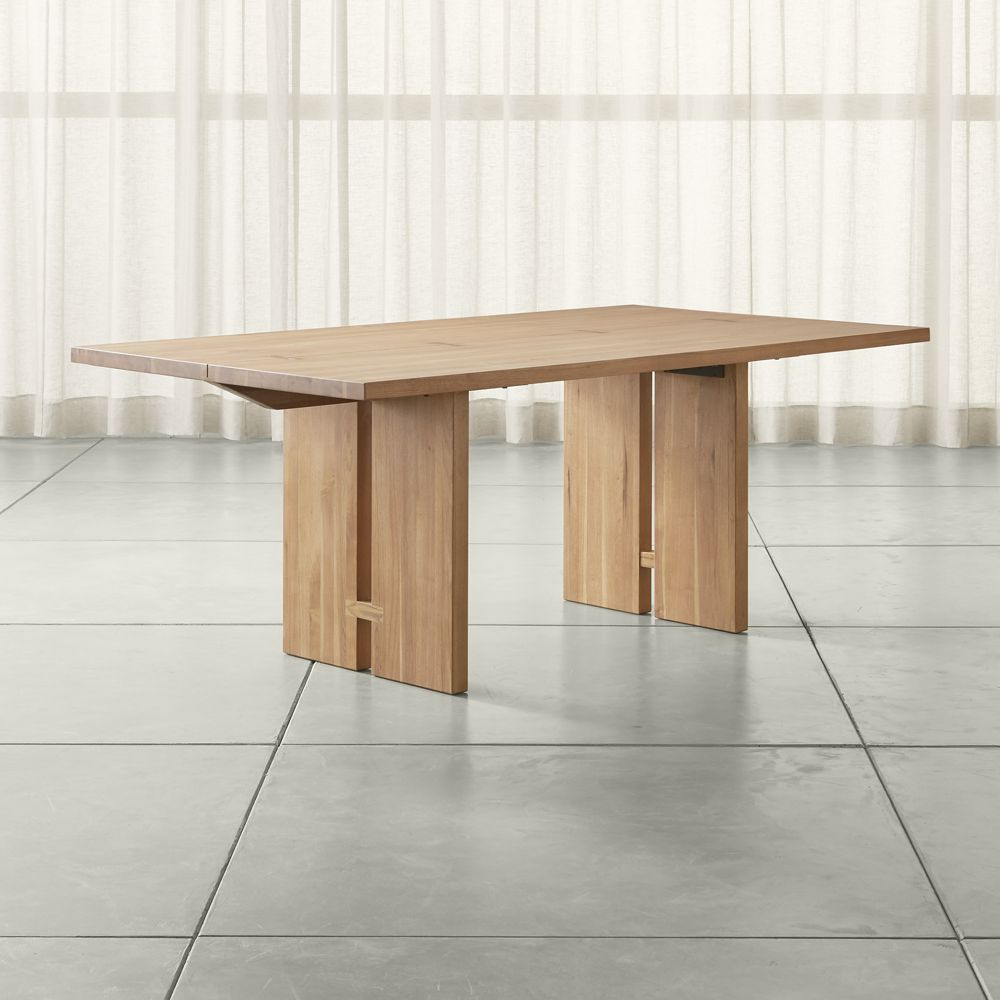 monarch 76 natural solid walnut dining table