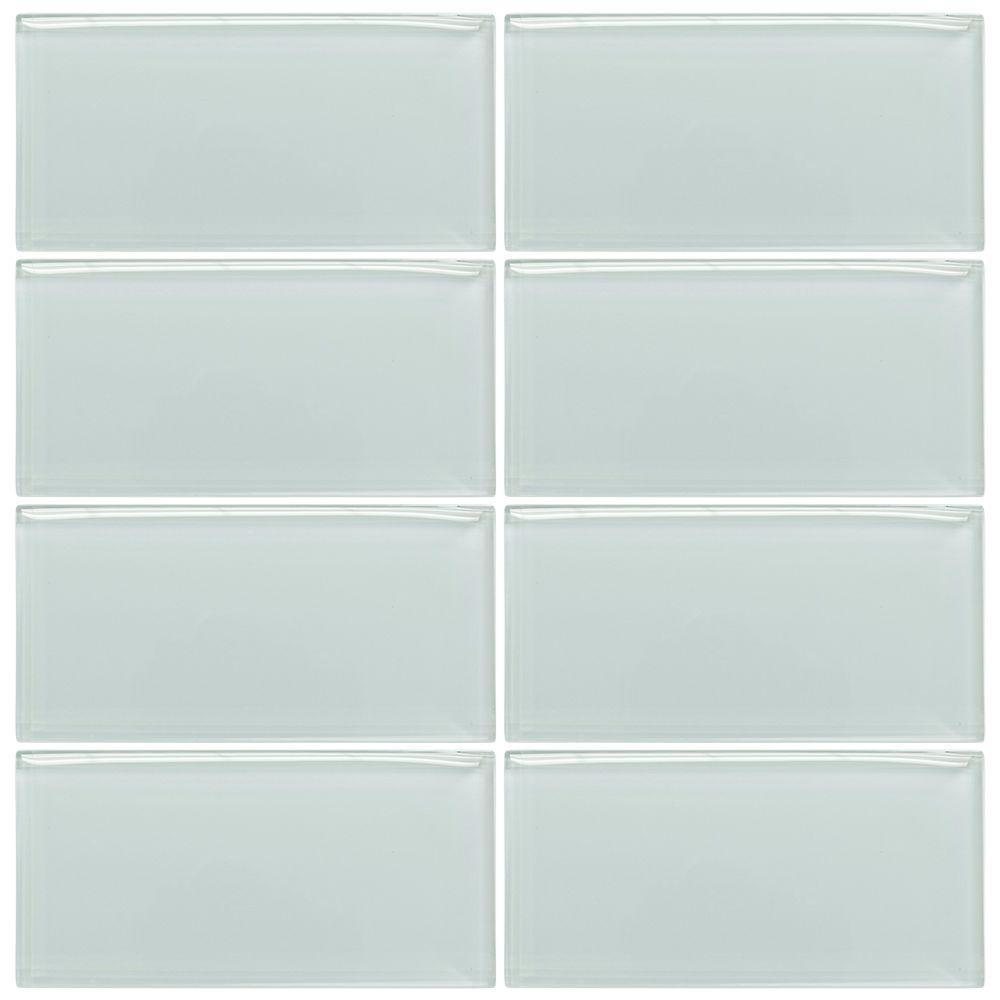 jeffrey court morning mist 3 in x 6 in glass wall tile 1pk 8pcs 1sf clear