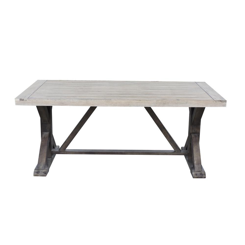 hampton bay farmhouse wood outdoor dining table
