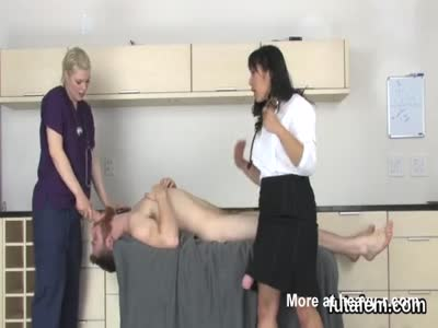 Nurse With Huge Cock Throats Male Patient