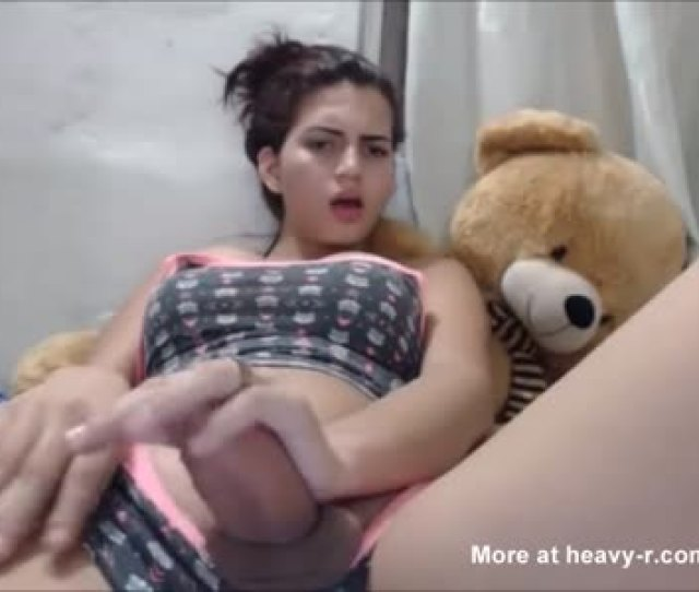 Sexy Teen Tranny Playing With Her Cock