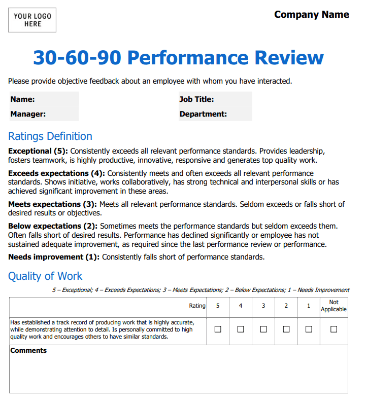 Google is just one of the leading companies to overturn their old review system: The Perfect Employee Evaluation Form Templates How To