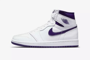 """It Doesn't Get Any Cleaner Than the """"Court Purple"""" Air Jordan 1"""