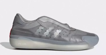 Official Images Reveal Prada x adidas Luna Rossa 21 in Silver Colorway