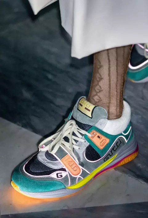 Gucci Channels 90s Sportswear For New Cruise 2020 Sneakers
