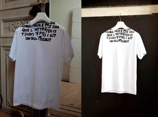 Maison Martin Margiela Charity AIDS TShirt in French  Highsnobiety