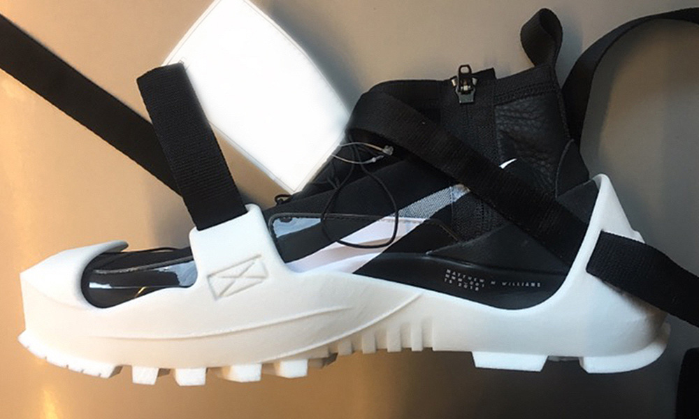 A Closer Look At A Prototype Of Matthew Williams Nike Shoe
