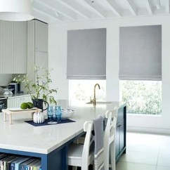 Blinds For Kitchen Windows Sink Extra 10 Made To Measure Up 60 Off Hillarys Roman Blind Allure Silver Roomset