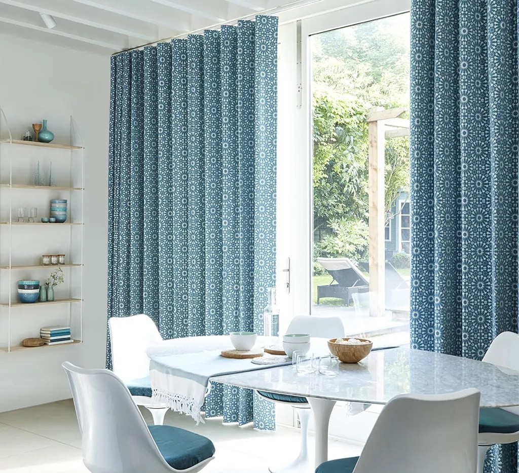 patterned curtains for living room open dining furniture layout up to 50 off in our winter sale hillarys blue curtain mosaic tile turquoise