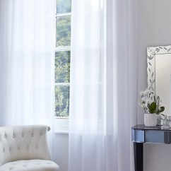 White Curtains For Living Room Wicker Furniture 50 Sale On Fitted Hillarys Uk Voile