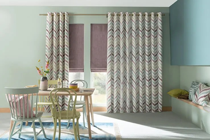 kitchen curtians remodel sacramento curtains uk winter sale now on up to 50 off hillarys blue patterned islita thistle