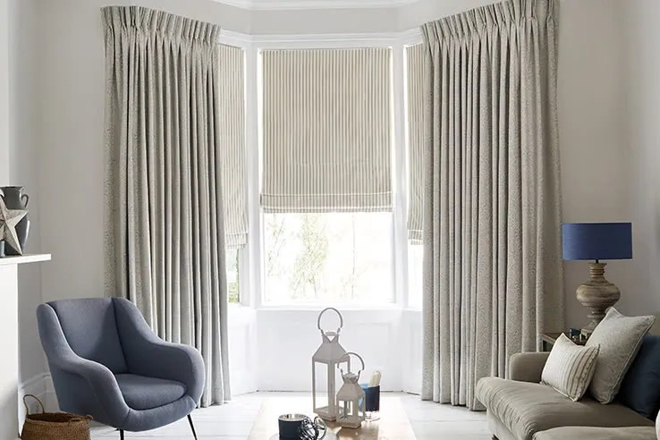 modern living room curtains rustic table sets made to measure up 50 off hillarys grey modello pastel roman downtown blue