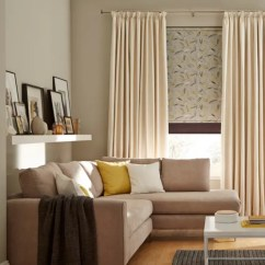 Blinds For Living Room With Curtains Country Ideas Uk How To Dress A Window And Daze Ivory Layered Joya Roller Blind Norfolk Charcoal