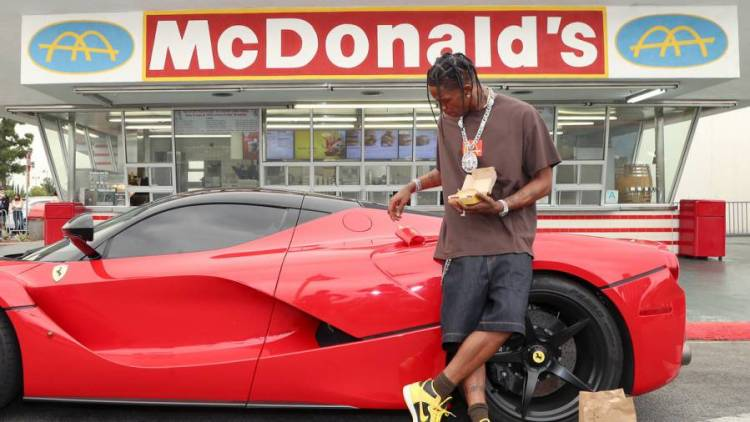 Travis Scott Vows To Hook Up Cancer Patient Fan Enjoying His Custom McDonald's Meal