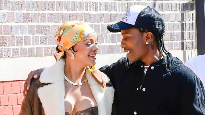 A$AP Rocky & Rihanna Embrace At Bronx Video Shoot Ahead Of 'All Smiles' Album
