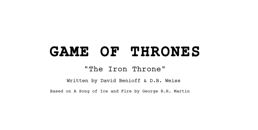 Game Of Thrones Le Script De L Episode Final Est Enfin