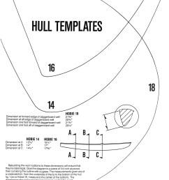 keel shape templates hobie 14 16 and 18  [ 1000 x 1307 Pixel ]