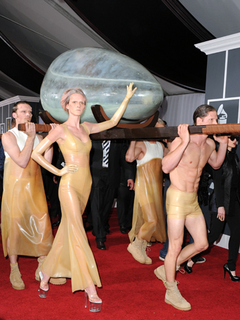 Lady Gaga Egg Dress : dress, Spent, Hours, Inside, Grammy, Creative, Experience', Hollywood, Reporter