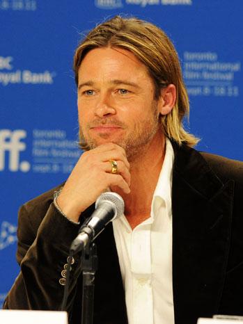 Brad Pitt World War Z Hair : world, Pitt's, Jennifer, Aniston, Gaffe:, Readers, Saying, Hollywood, Reporter