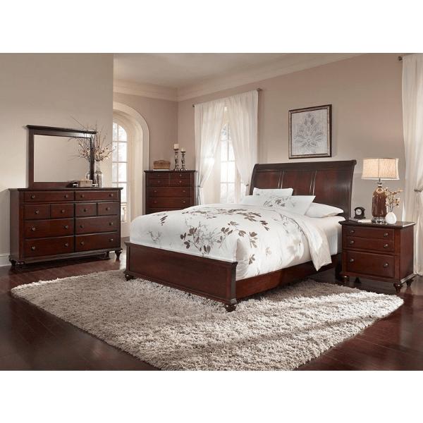 dark cherry finish bedroom set broyhill