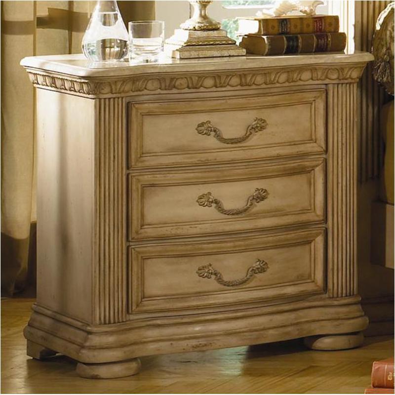 1636 651 flexsteel wynwood furniture cordoba antiguo blanco night stand with marble top antiguo blanco