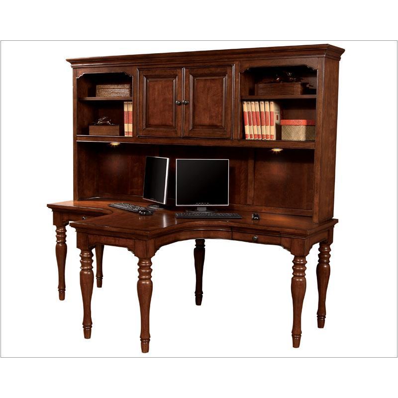 i20 380h chy aspen home furniture villager dual t desk hutch cherry