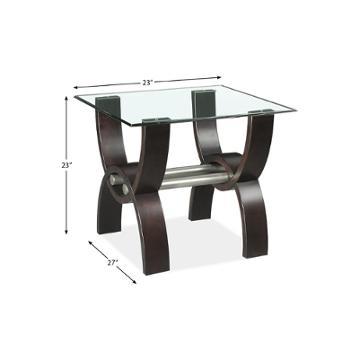718 809g Klaussner Furniture Quantam Living Room End Table