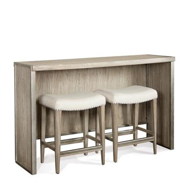 50316 riverside furniture sophie sofa table with 2 upholstered stools