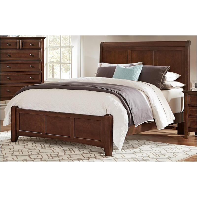 bb28 553 vaughan bassett furniture bonanza cherry queen sleigh bed cherry