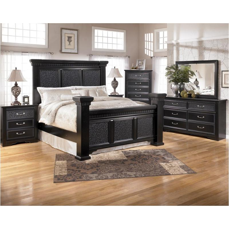 b291 157 ashley furniture cavallino queen mansion poster bed