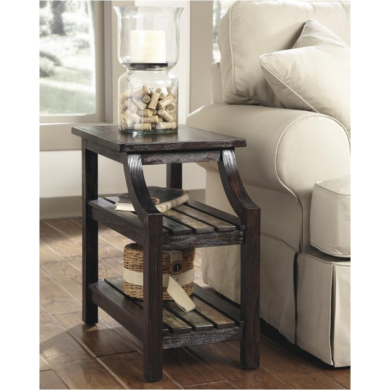 t580 7 ashley furniture mestler rustic brown chair side end table