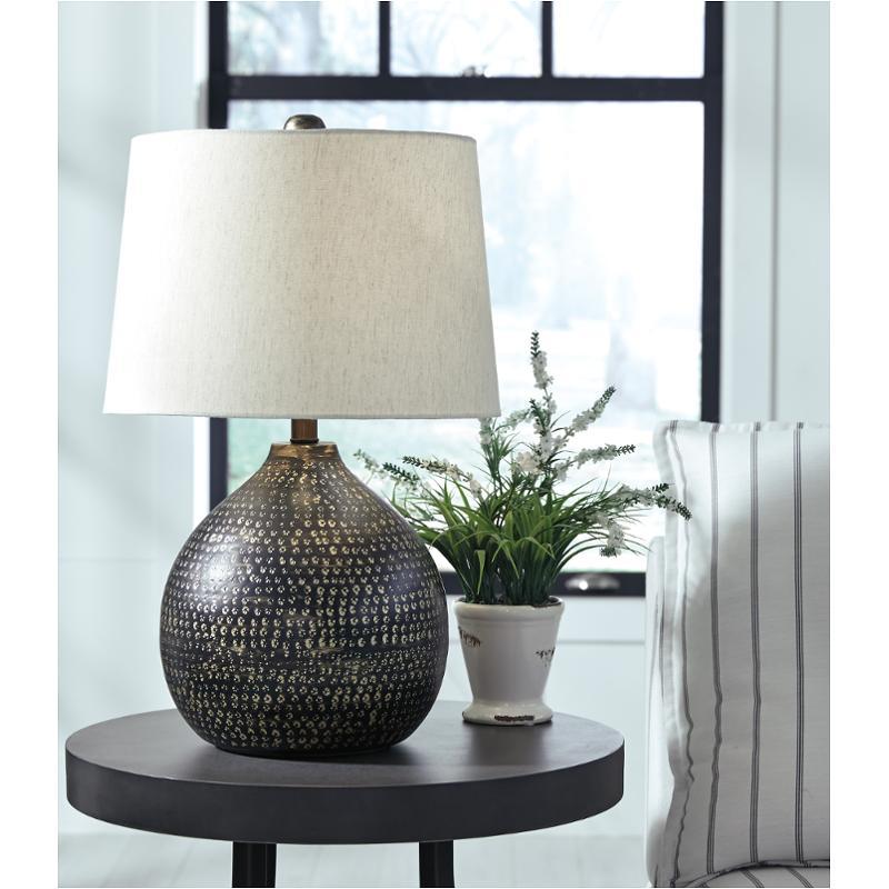 l207294 ashley furniture metal table lamp
