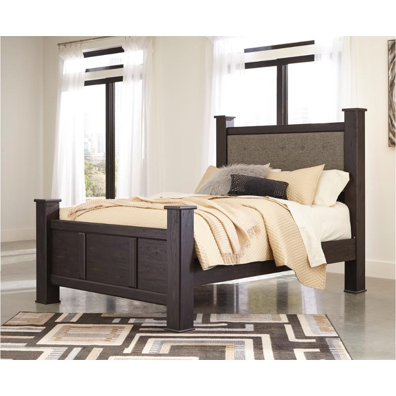 b555 67 ashley furniture reylow queen upholstered poster bed