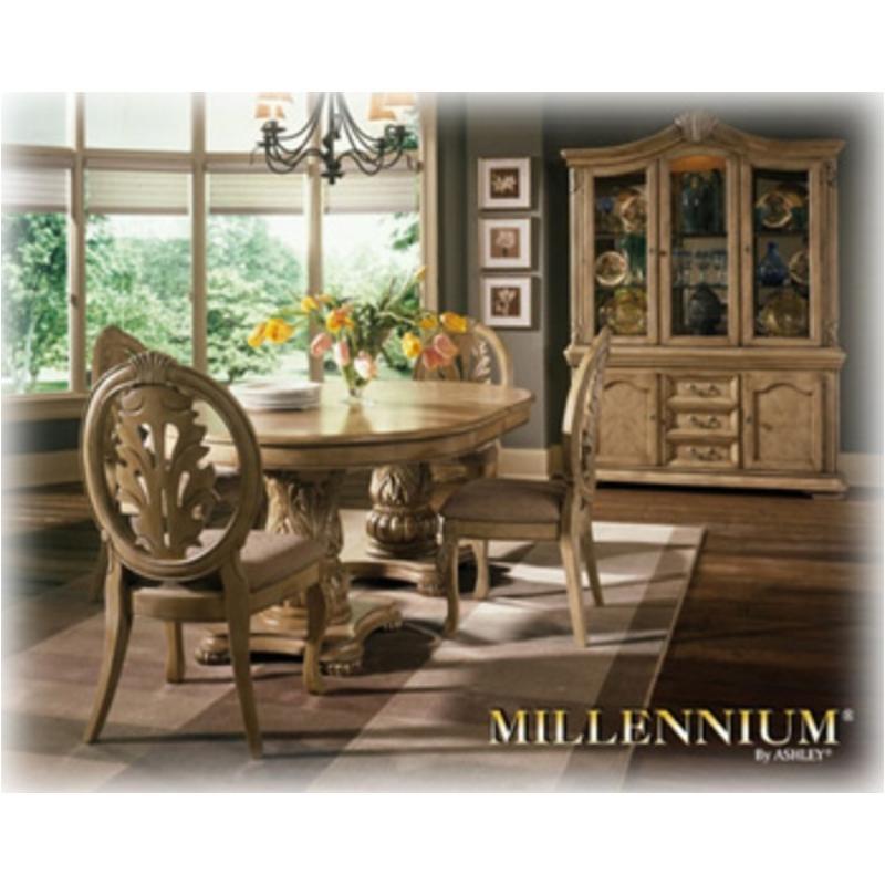 D435 55b Ashley Furniture Dining Room Double Pedestal Base