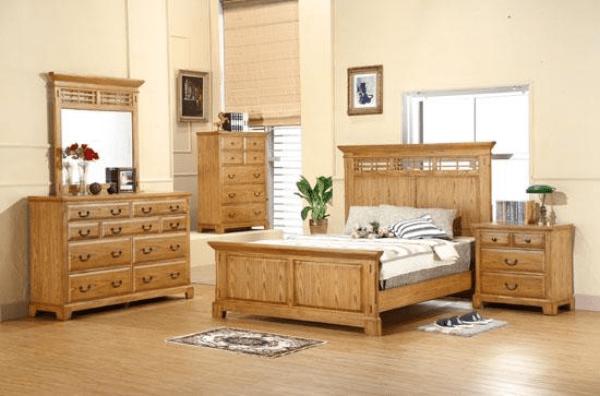 zahara light oak bedroom set winners only furniture